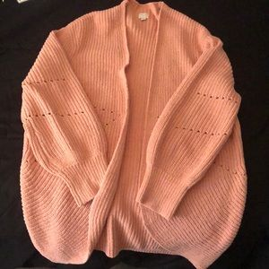 Pink Cardigan; no tag but is brand new never worn